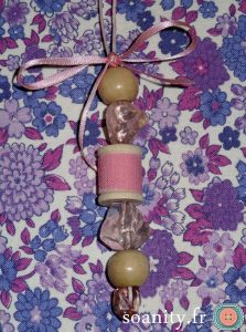sautoir couture rose