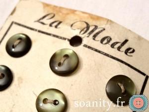 boutons vintage La Mode