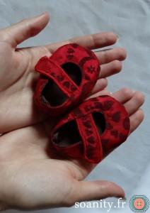 Première couture pour bébé