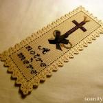 Nouveauté dans le vide-cousette : souvenir au point de croix