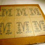 Nouveauté dans le vide-cousette : monogrammes à broder