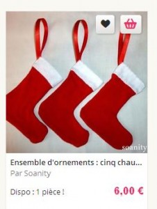 chaussettes noel rouges