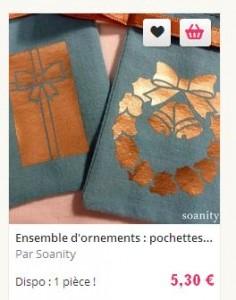 pochettes noel bleues