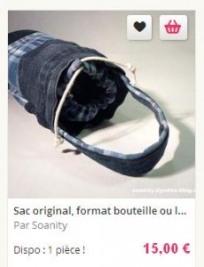 sac format bouteille
