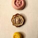 Nouveauté dans le vide-cousette : boutons fleuris céramique