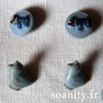 Nouveauté dans le vide-cousette : boutons bleus vintage